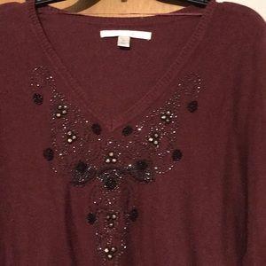 LC Lauren Conrad V neck sweater